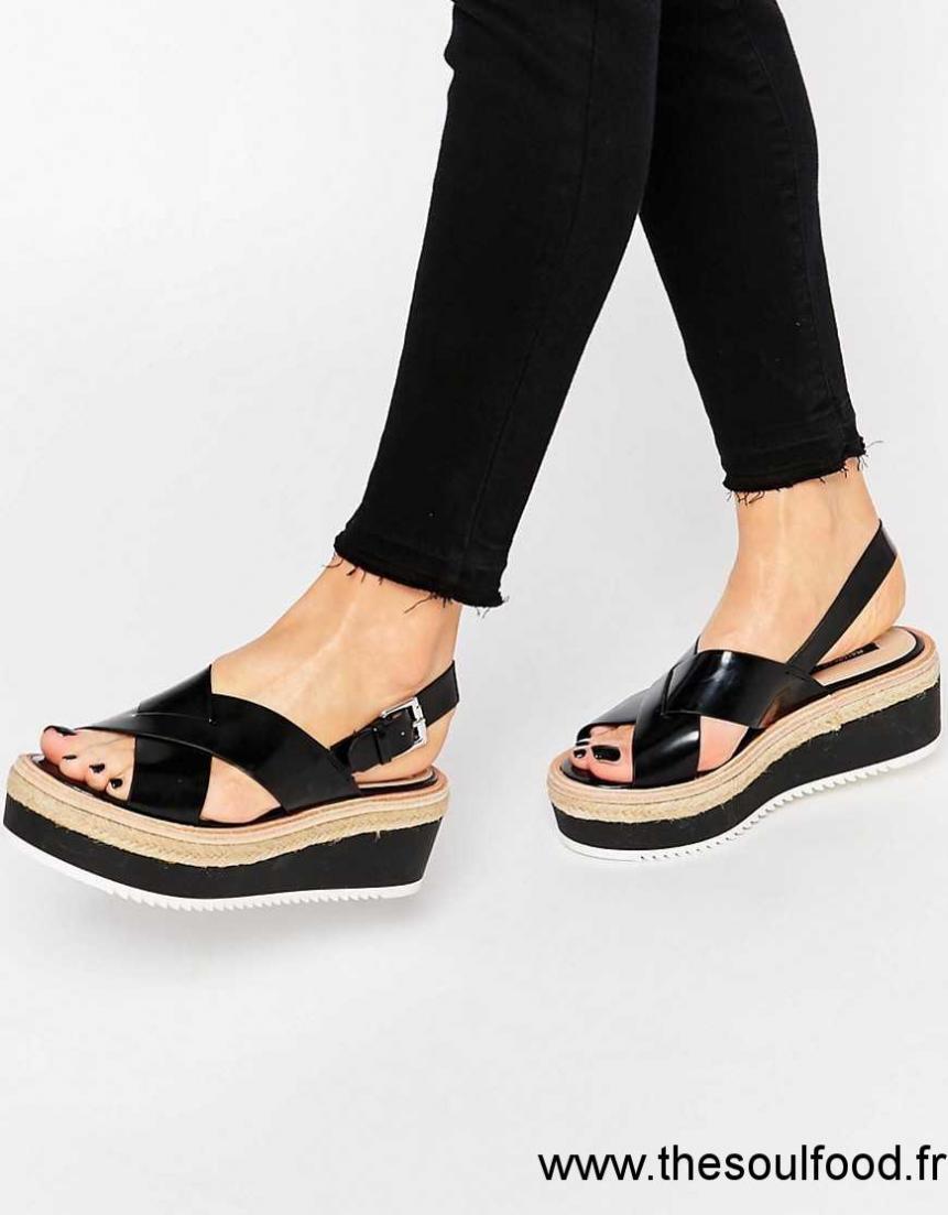 vente de sortie styles divers soldes Pull&bear - Sandales À Plateforme Femme Noir Chaussures ...