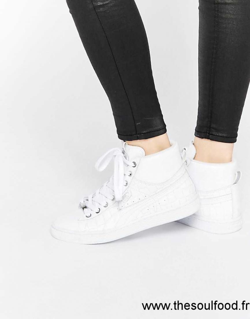Croco Baskets Femme Texturées Blanc Imitation Puma qRSZ8wAz