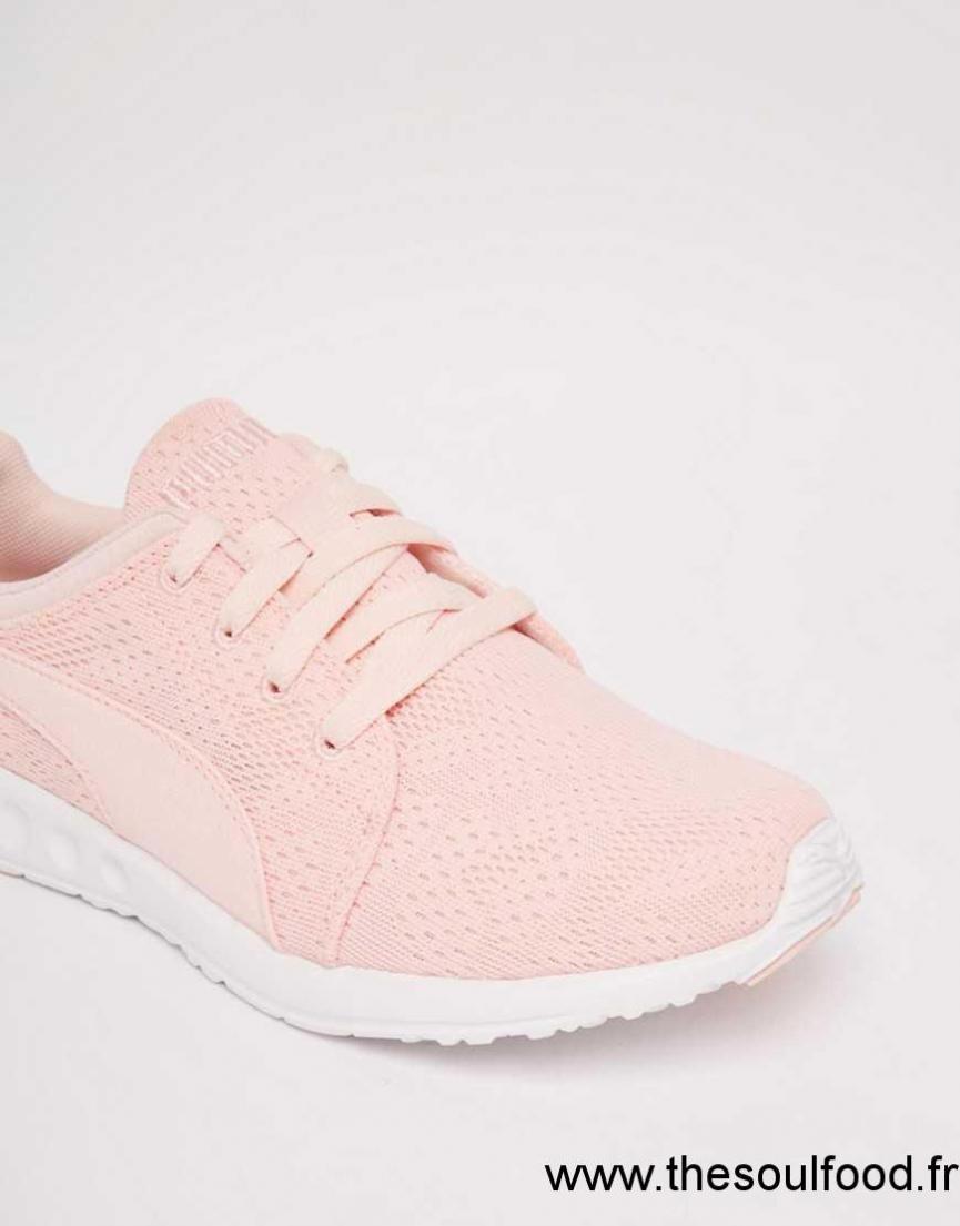 puma rose pale chaussure
