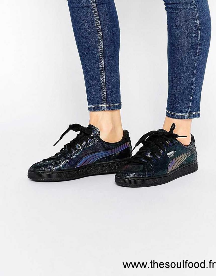 Baskets Noir Femme Deep Chaussures Puma Métallisé Summer HIED92
