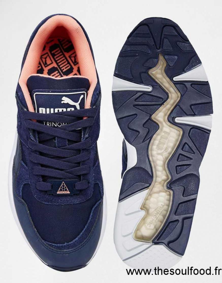 le dernier 4e81d a7c83 Puma - R698 Trinomic - Baskets - Bleu Femme Bleu Chaussures ...