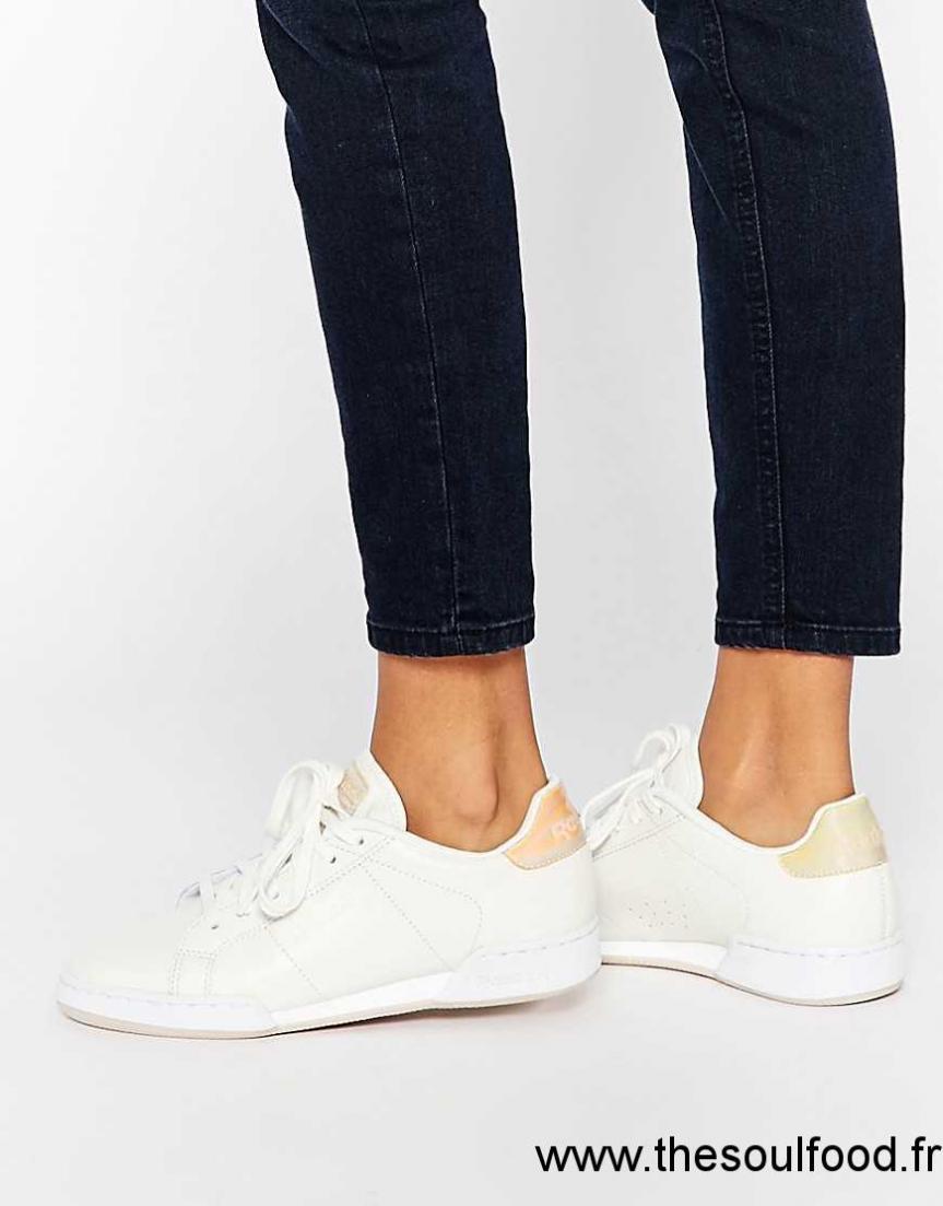 3fee71de802 Reebok - Npc 11 Transform Court - Baskets - Blanc Femme Craie Pierre  Désert Blanc Chaussures