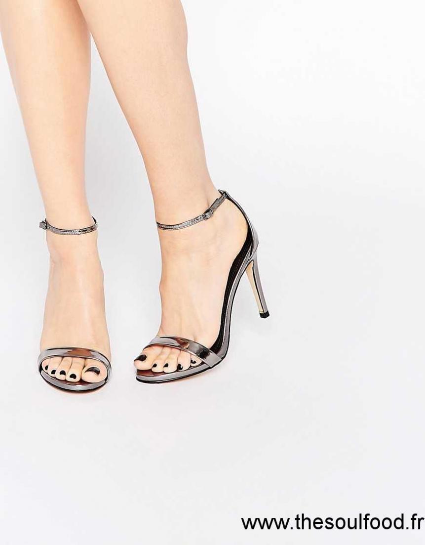 48641565881f Steve Madden - Stecy - Sandales En Deux Parties - Étain Femme Pewter  Chaussures | Steve