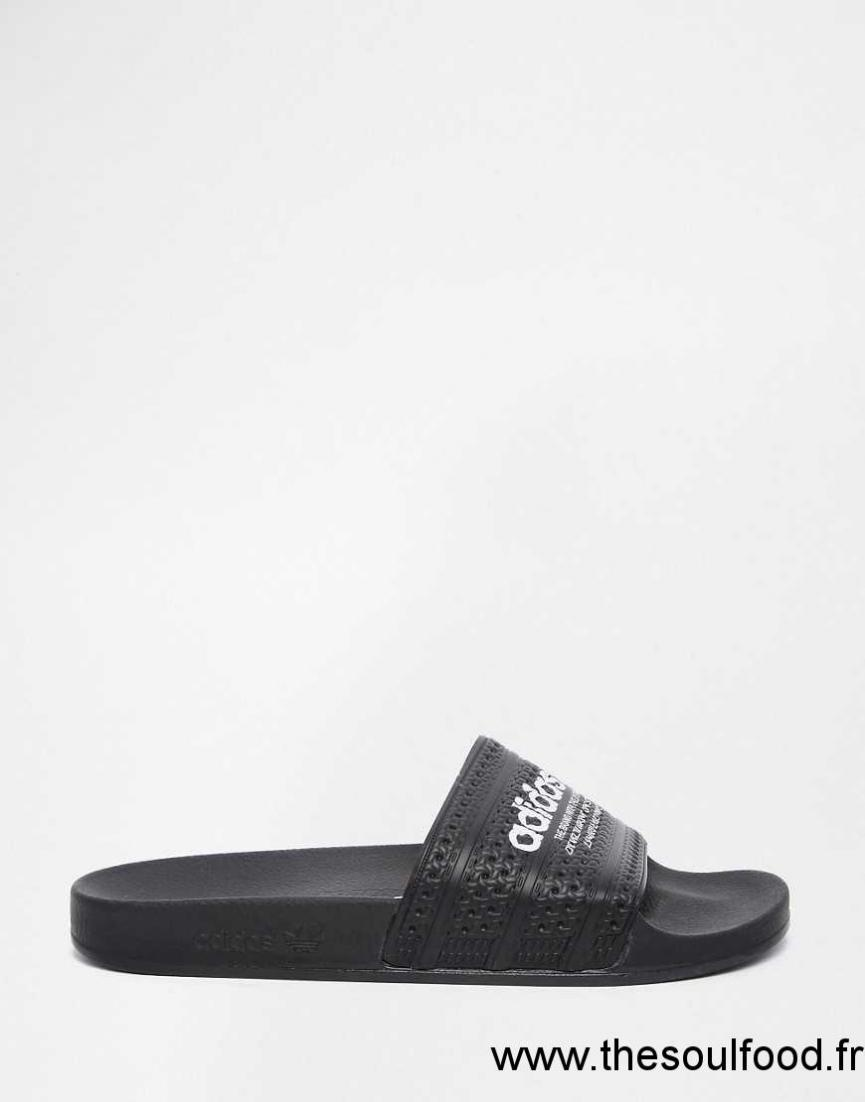 Adidas Originals Adilette S78689 Mules Homme Noir Chaussures | Adidas Originals France UD120084