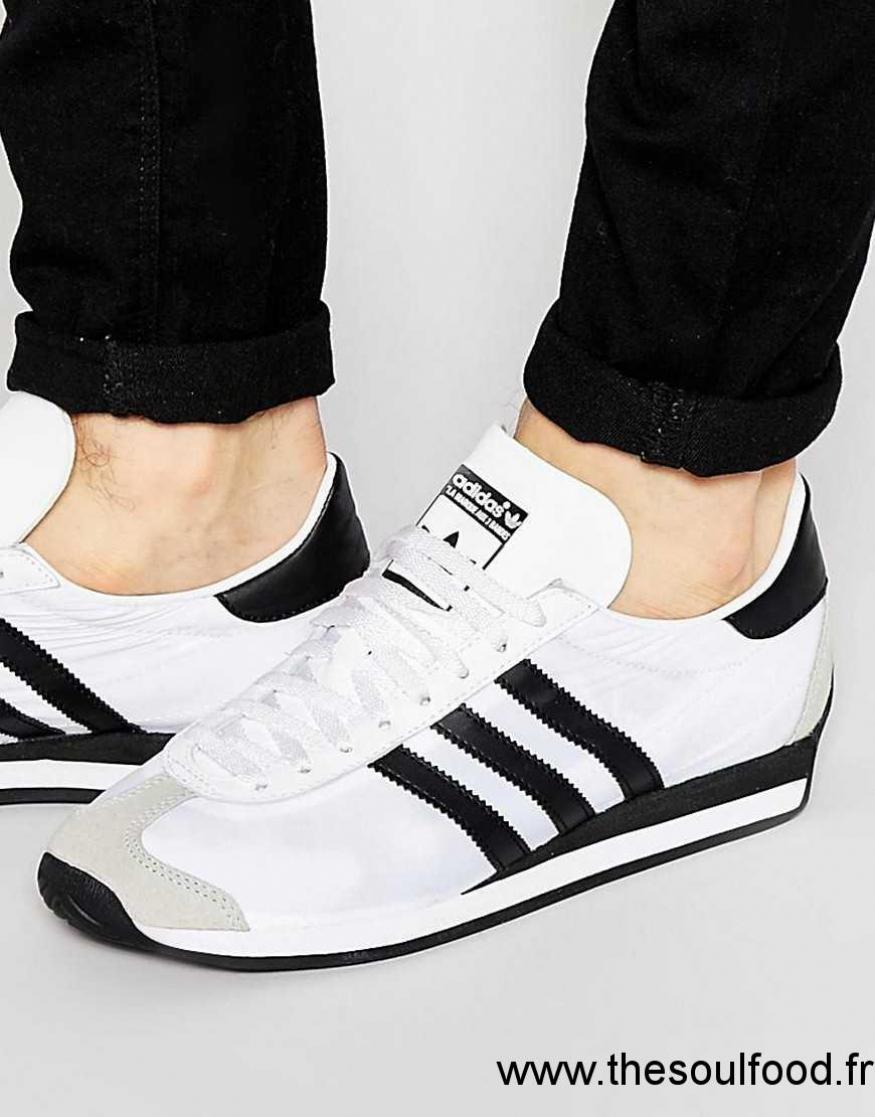 hot sale online 18110 0cfa3 Homme Baskets Originals Chaussures Og Adidas Country Blanc I
