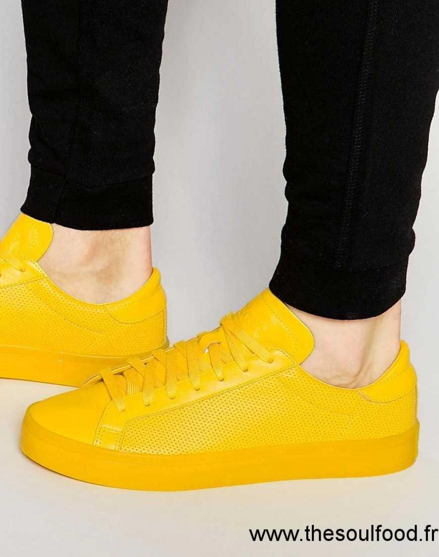 baskets adidas femme sigle jaune