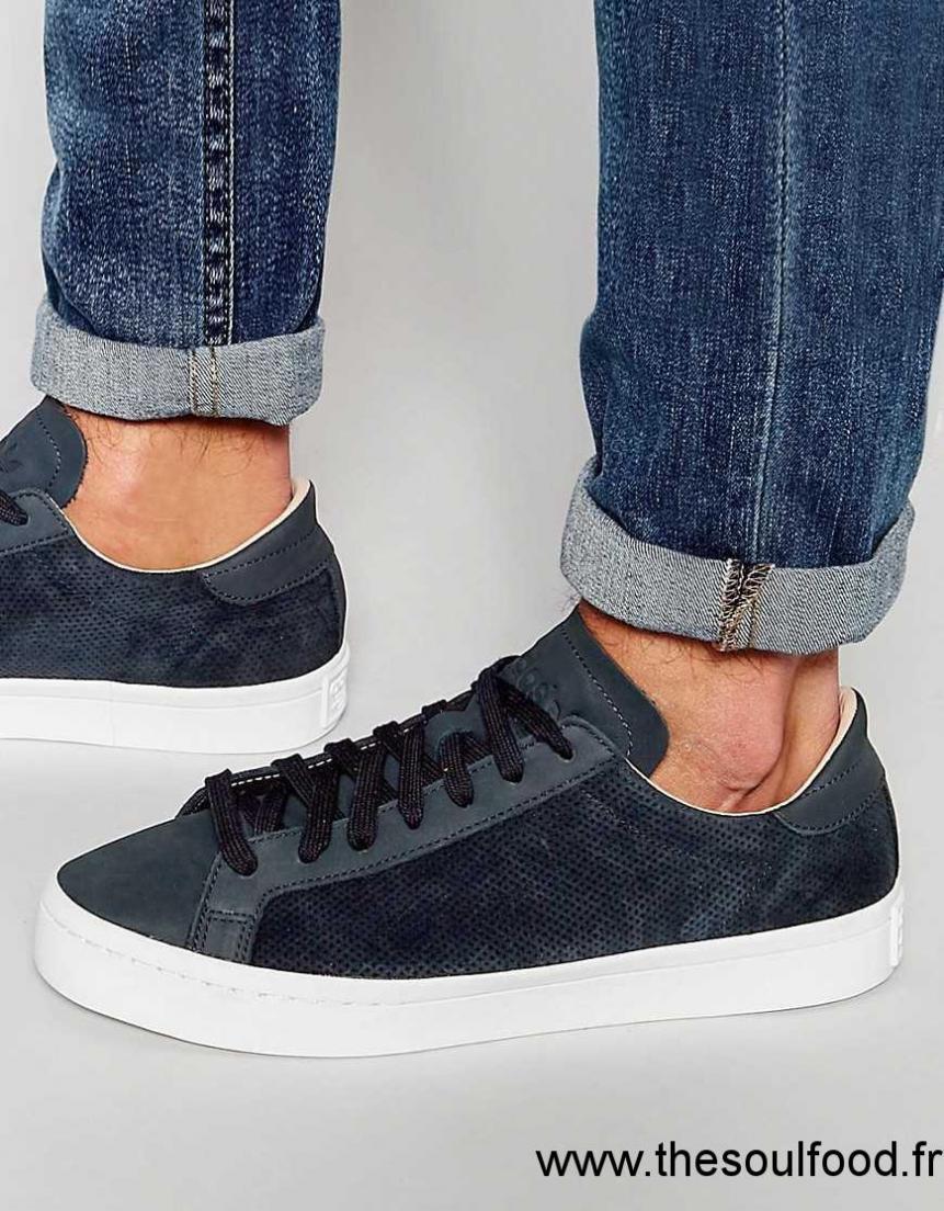 Adidas Originals Court Vantage S78770 Baskets Homme Bleu