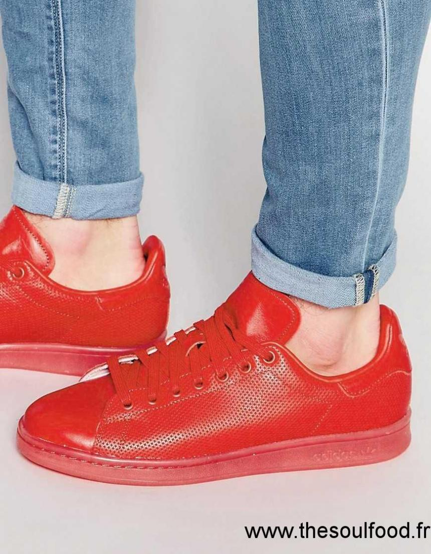adidas rouge homme stan smith adicolor