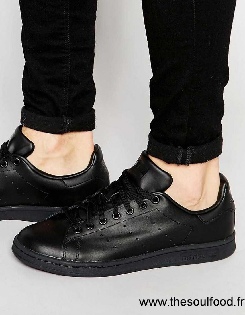 Originals Baskets Adidas Noir En M20327 Cuir Stan Homme Smith dPTTBq