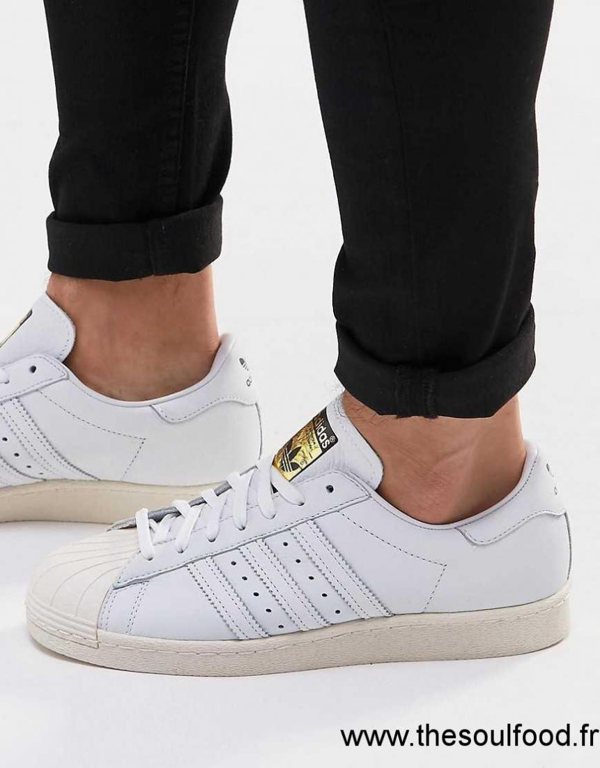 S75016 Blanc Adidas Baskets Superstar Homme Originals 80's kZ80PXNnwO