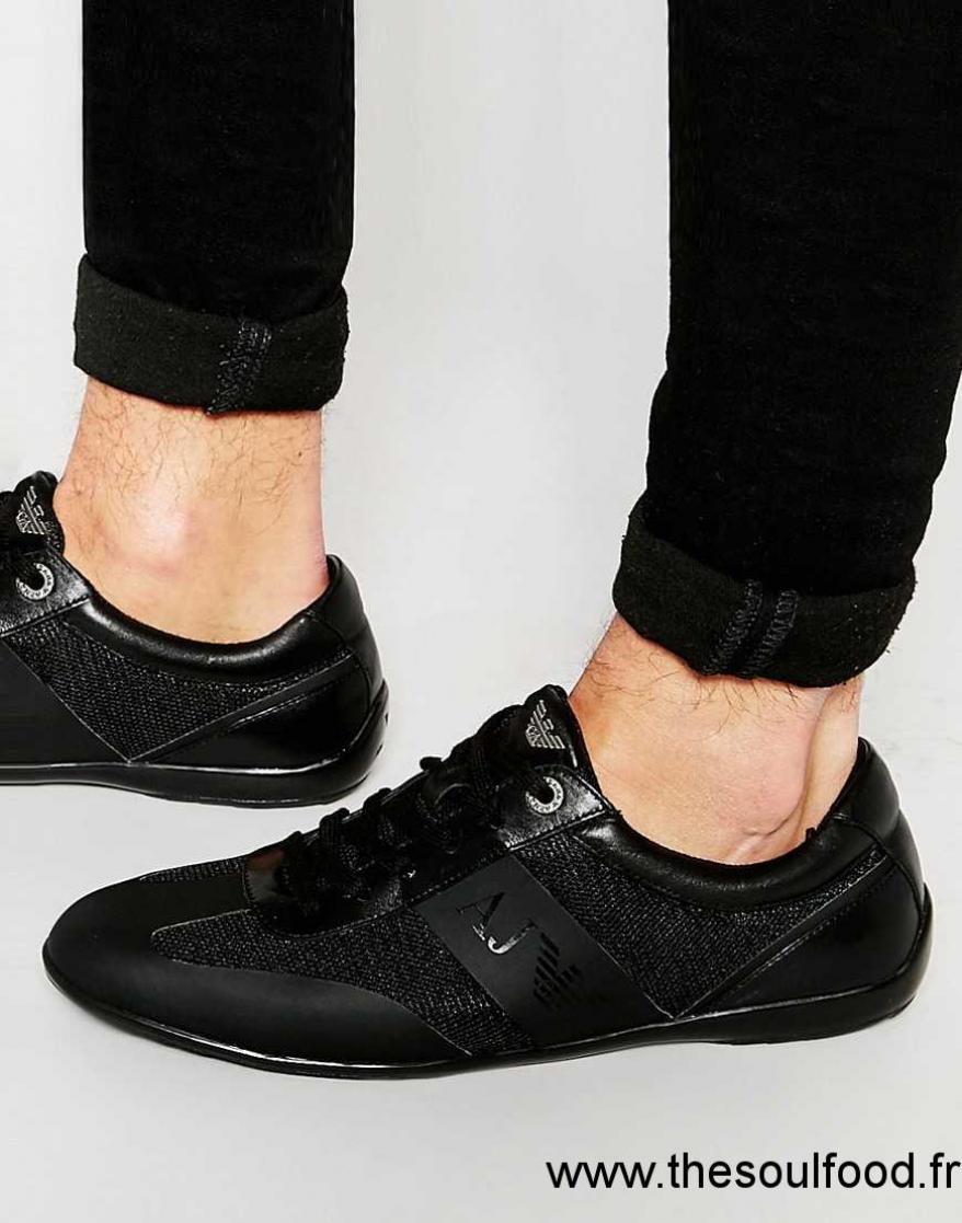 ca32dd49609 Noir Homme France Baskets Chaussures Jeans Armani YH6qxaz8w
