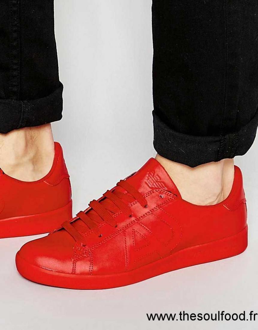 Chaussures Logo Armani Baskets Jeans Homme Rouge Jeans À Armani 6rYtwqr