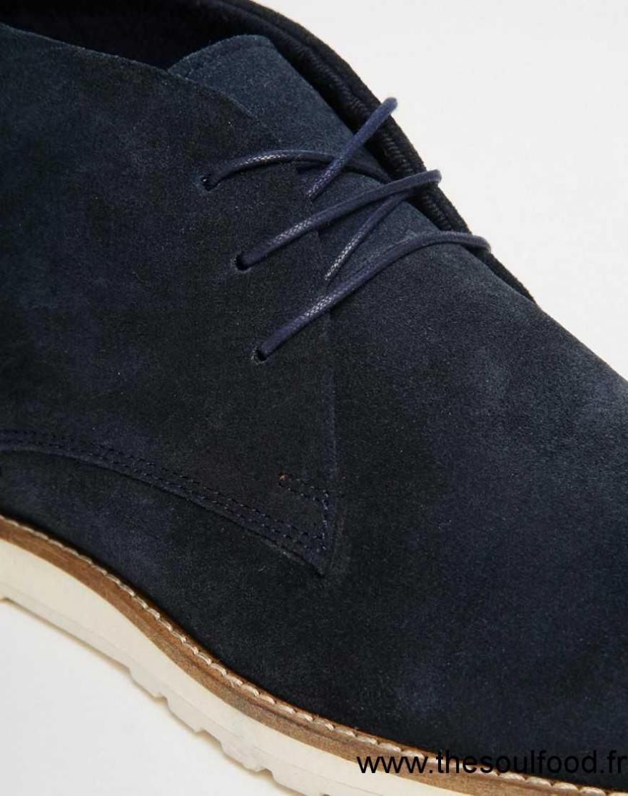 Asos , Bottines Chukka En Daim , Bleu Marine Homme Bleu Marine Chaussures