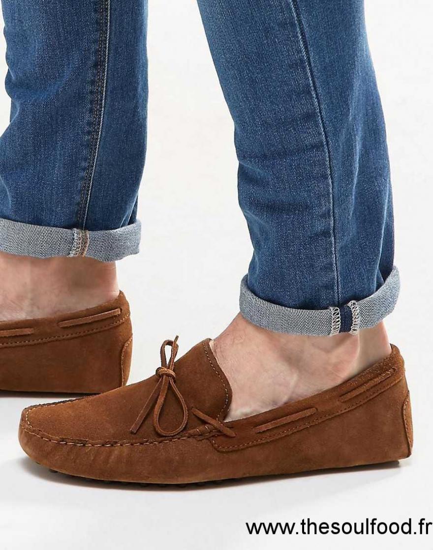 asos chaussures de conduite en daim homme fauve chaussures asos france cg89001520. Black Bedroom Furniture Sets. Home Design Ideas