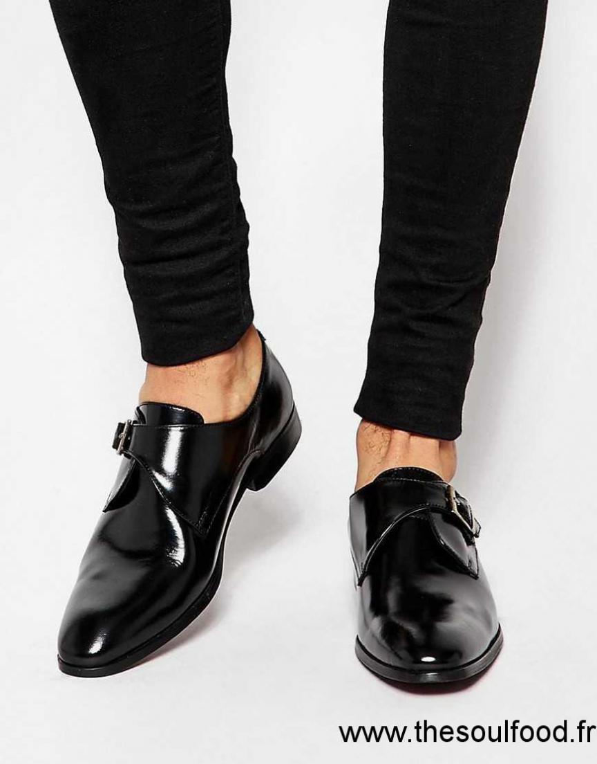 Asos Chaussures Derby En Cuir Avec Boucle Noir Homme Noir Chaussures | Asos France