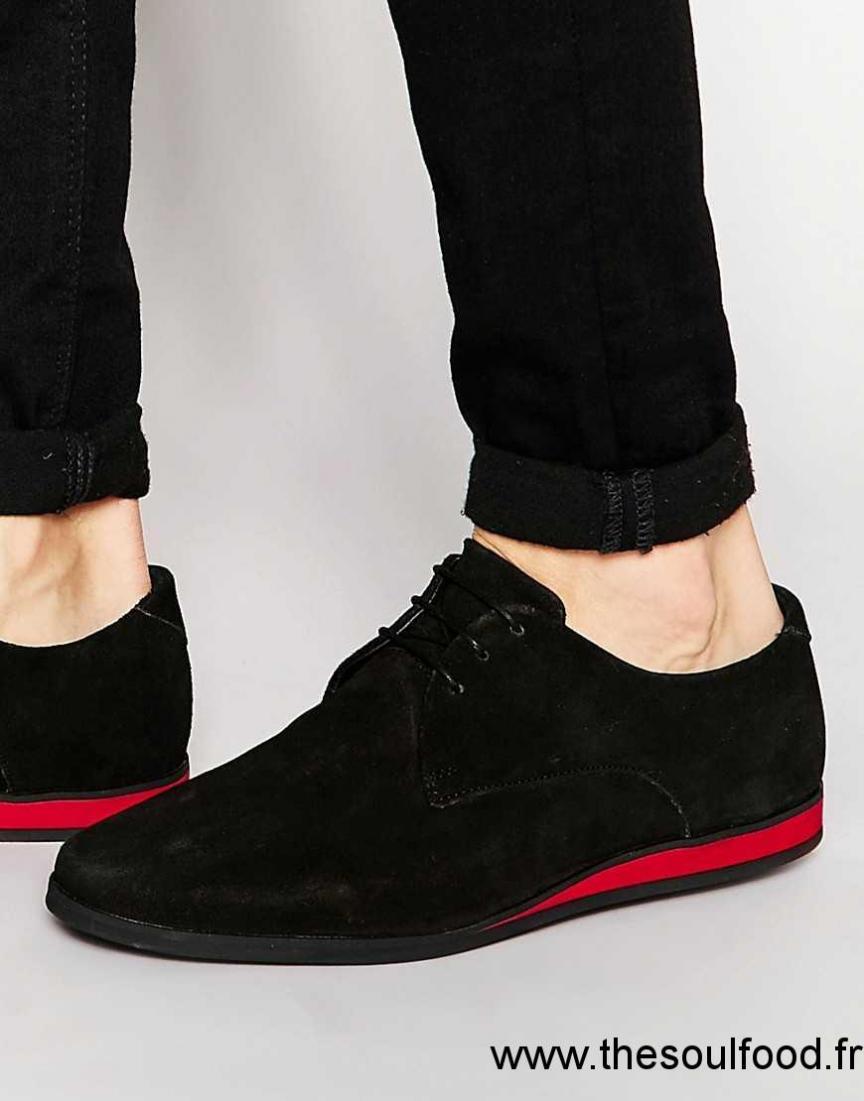 asos chaussures derby en daim noir homme noir chaussures asos france ij63001197. Black Bedroom Furniture Sets. Home Design Ideas