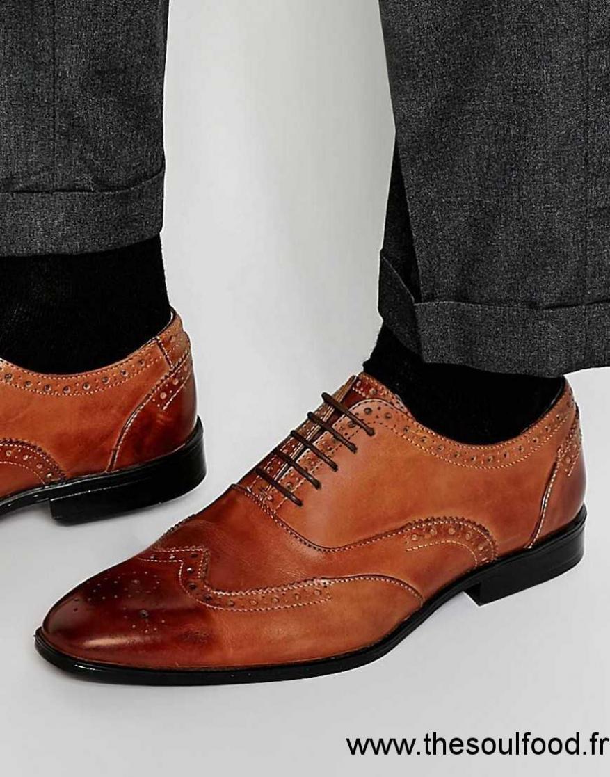 Asos - Chaussures Oxford Style Richelieu En Cuir Verni - Marron Homme  Marron Chaussures   Asos France KU13001207 fcabb23f5533