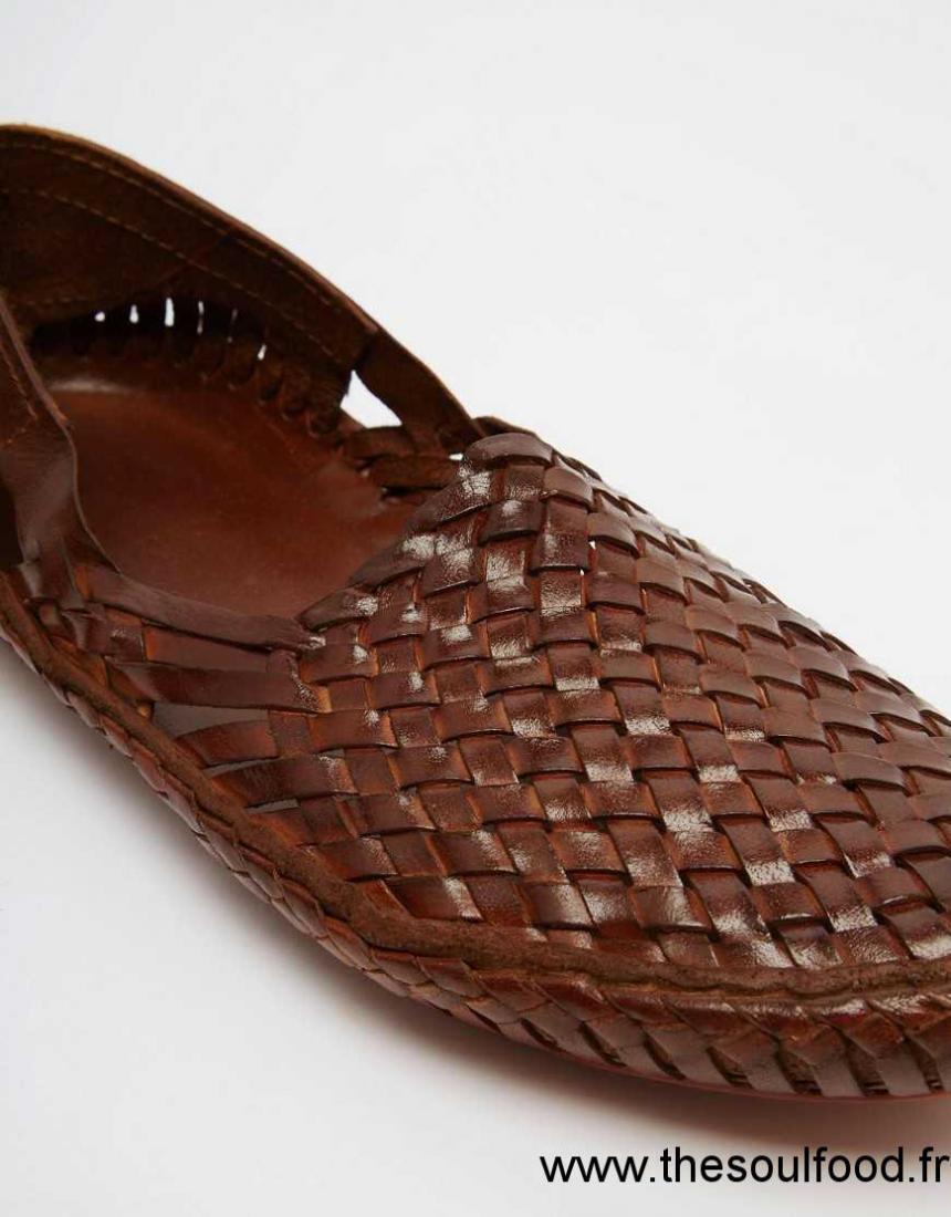Cuir ChaussuresFrance Asos Fauve En Tressé Homme Sandales H2IDYbWeE9