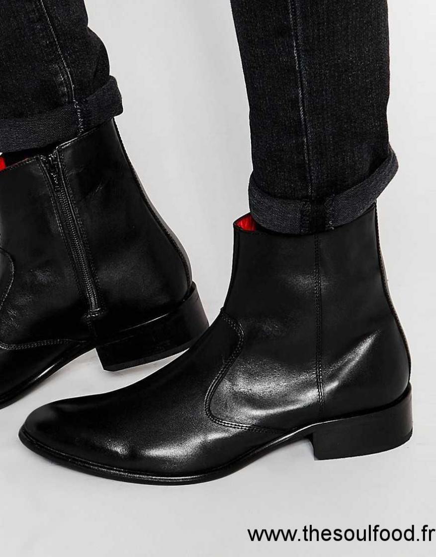 soldes grande remise chaussures de tempérament Base London - Lancelot - Bottines En Cuir Avec Fermeture ...