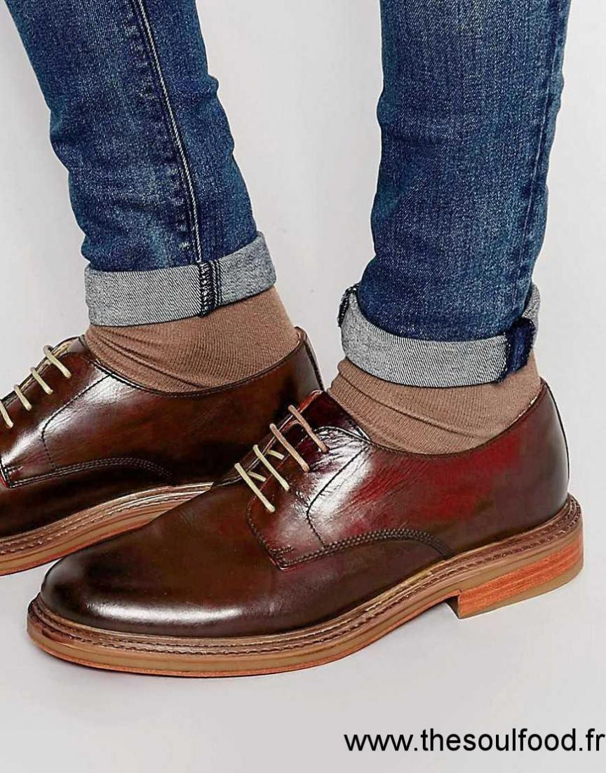 Base London - Sinclair - Chaussures Derby Homme Rouge Chaussures   Base  London France PB46001559 8a8b4a2222bf