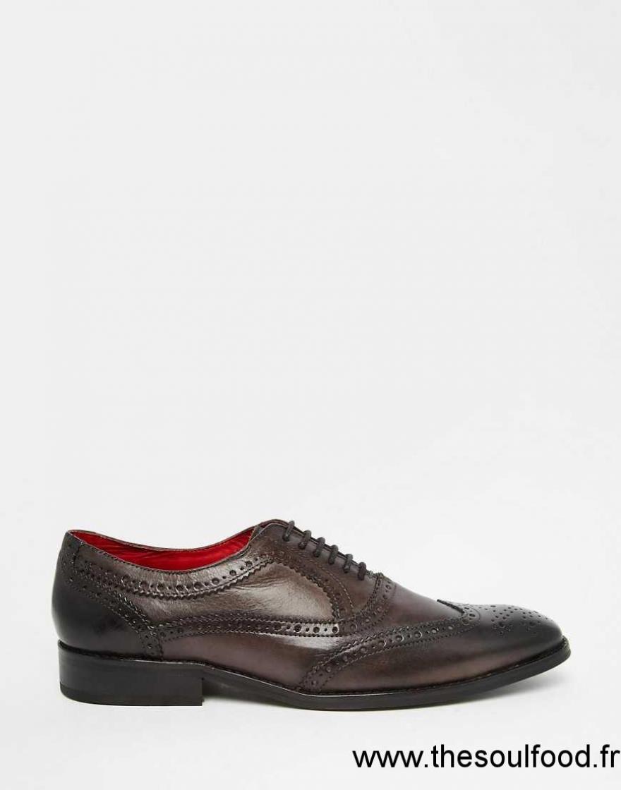 base london surrey chaussures richelieu style oxford en cuir homme marron chaussures base. Black Bedroom Furniture Sets. Home Design Ideas