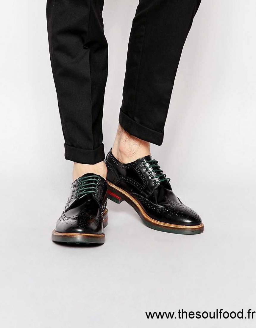 e4679a816e7872 Base London - Woburn - Chaussures Richelieu En Cuir Ultra Brillant Homme  Noir Chaussures | Base London France QT45001531