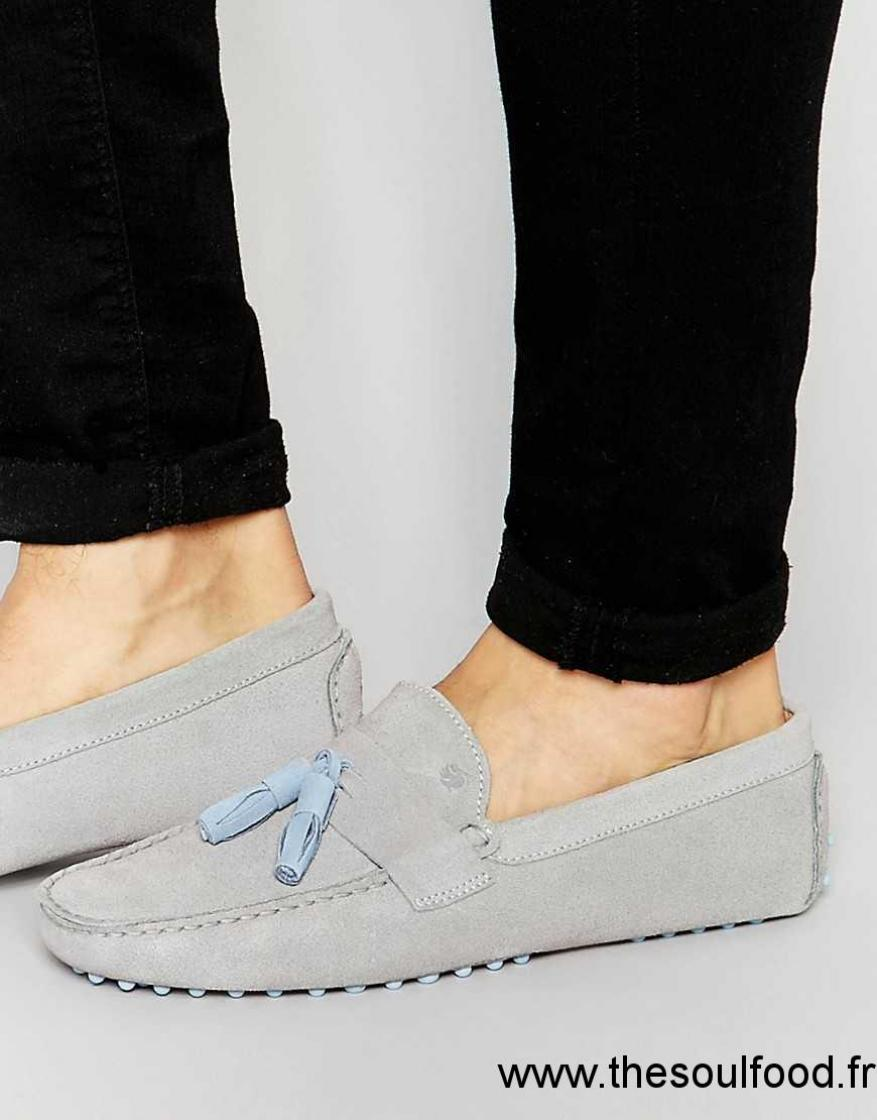 70785e6da3a Bobbies - Le Dandy - Chaussures De Conduite En Daim Homme Gris Chaussures