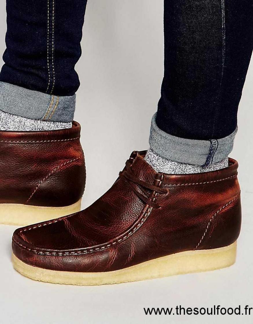 clarks original wallabee bottes en cuir homme marron chaussures clarks originals france. Black Bedroom Furniture Sets. Home Design Ideas