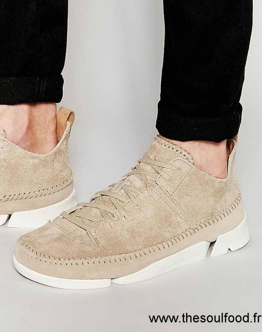 Clarks Trigenic Flex Baskets Homme Fauve Chaussures
