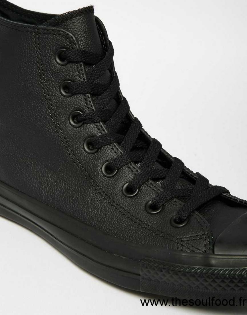 converse all star baskets montantes en cuir homme noir chaussures converse france jf05001794. Black Bedroom Furniture Sets. Home Design Ideas