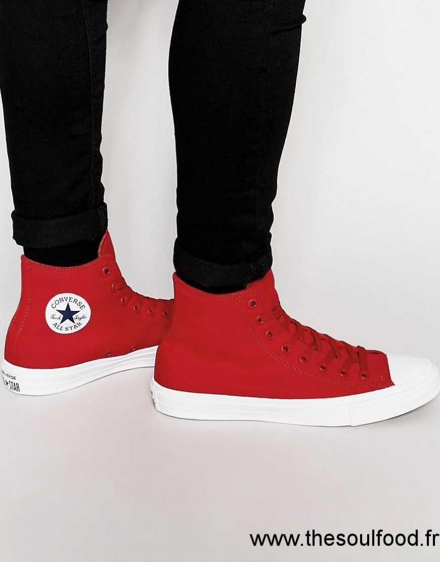 c598ec251e62c Converse - Chuck Taylor All Star Ii - Tennis Montantes - Rouge 150145c  Homme Rouge Chaussures