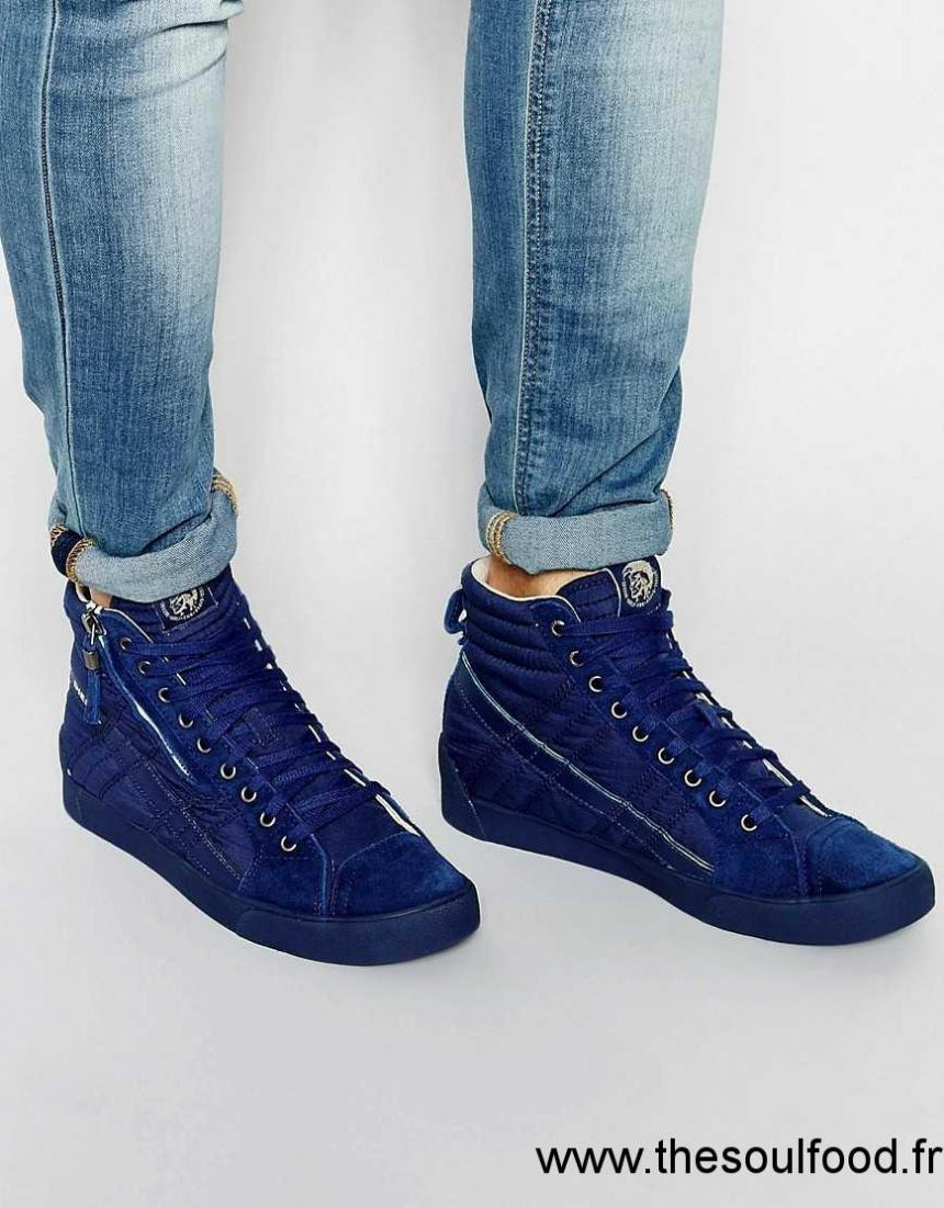 chaussure diesel homme bleu,Diesel Dstring Baskets En Daim Homme ... db5c3c9221fa