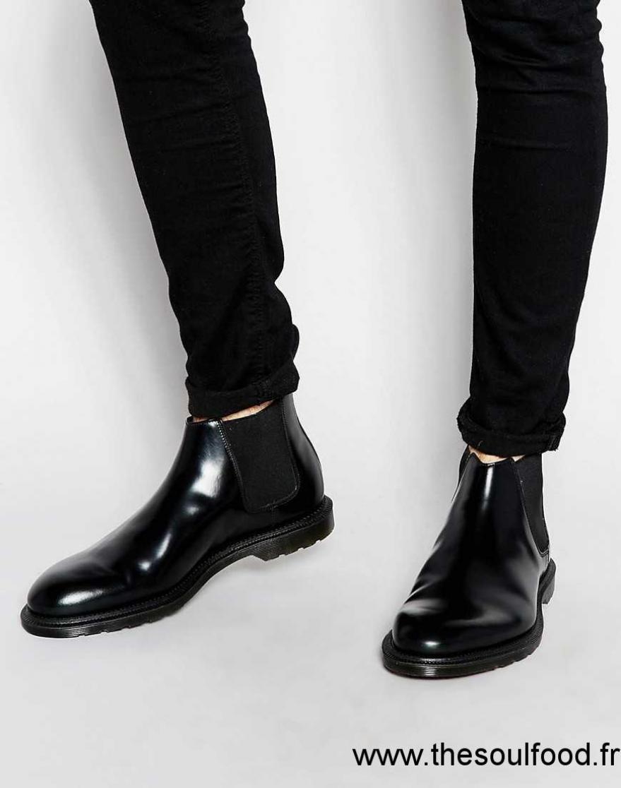 Homme Dr Martens Henley Bottines Chelsea Chaussures Noir e9Y2WEDIH