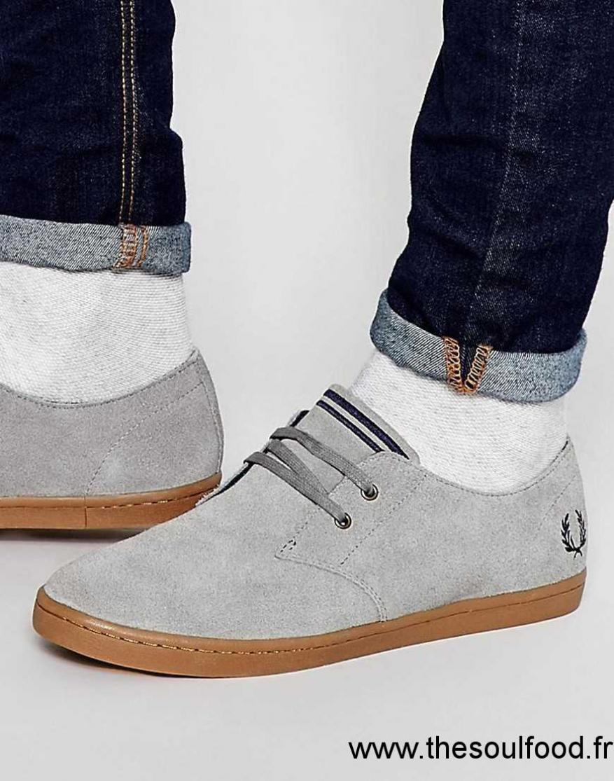 2ee52c675475 Fred Perry - Byron - Baskets Basses En Daim Homme Gris Chaussures ...