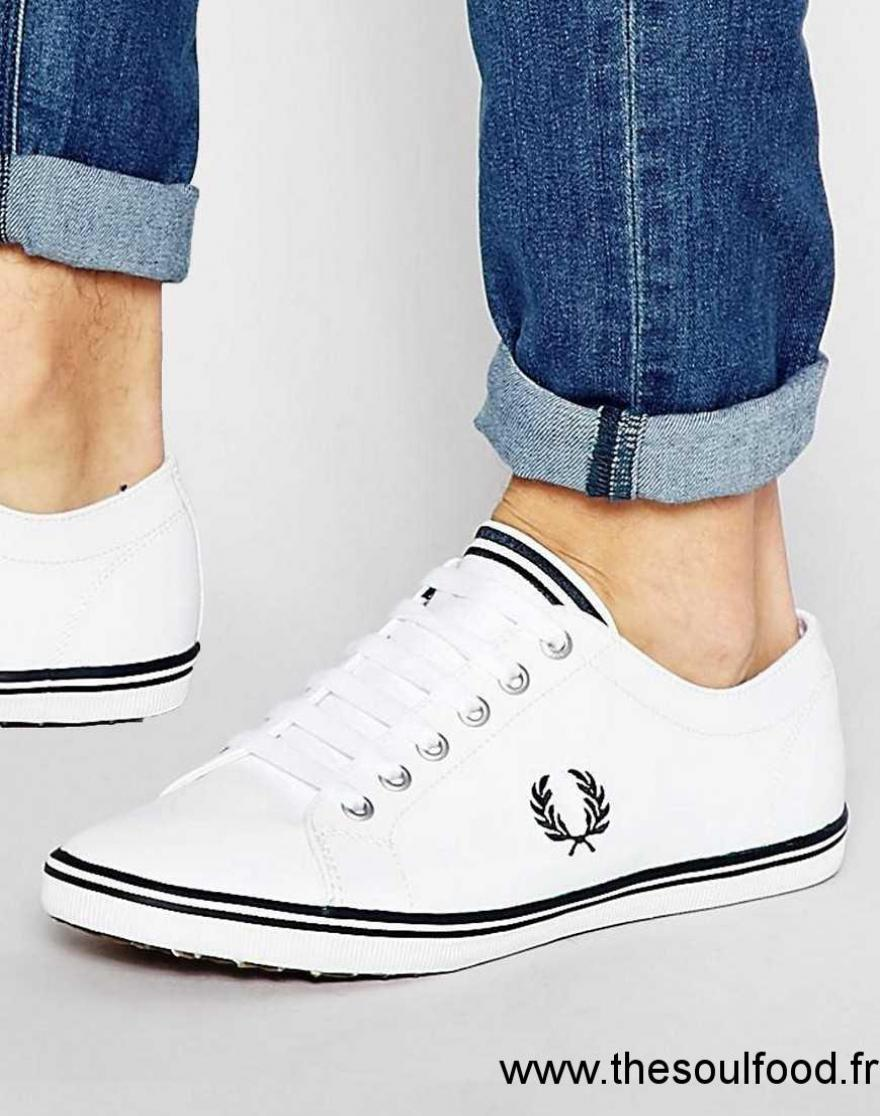 b83b93d8c47cf Fred Perry - Kingston - Tennis En Cuir Homme Blanc Chaussures