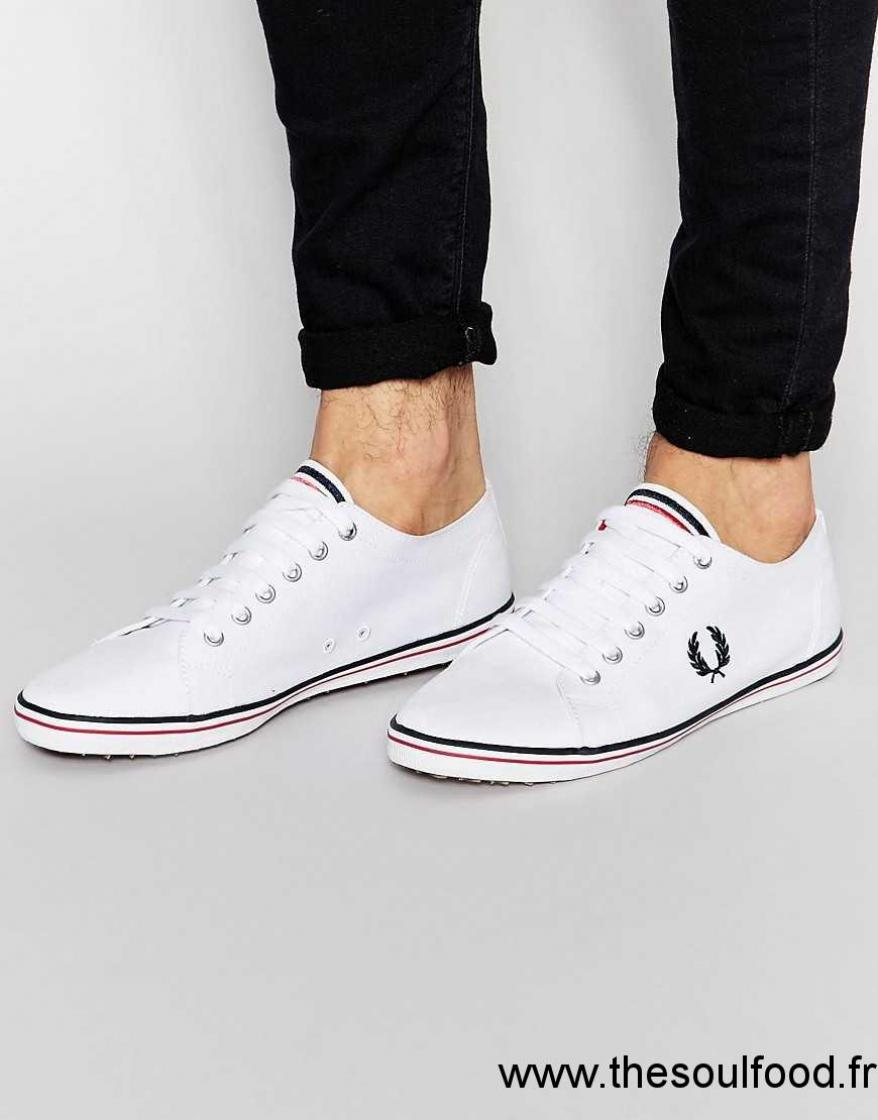 Sergé Homme Fred Tennis En Perry Blanc Chaussures Kingston WEIY29DH