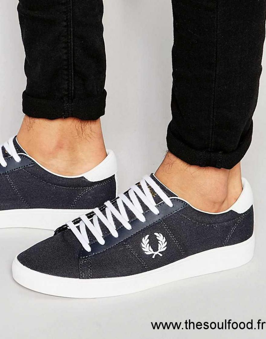 the best attitude 06a2d 13a60 Fred Perry - Spencer - Baskets En Toile Homme Bleu Chaussures   Fred Perry  France MT72002199