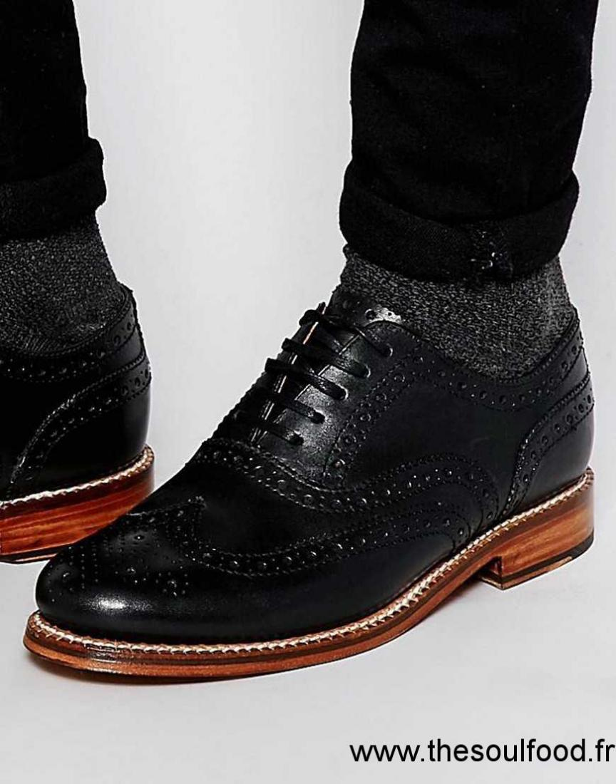 Grenson - Angus - Chaussures Derby Homme Noir Chaussures   Grenson France  IF48002293 0c350f3b8b3b
