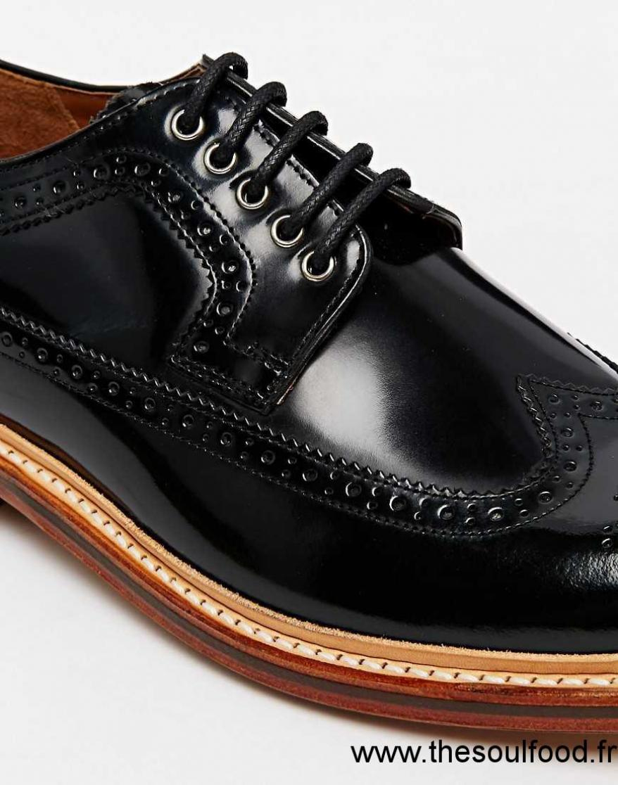 grenson sid chaussures richelieu homme noir chaussures. Black Bedroom Furniture Sets. Home Design Ideas