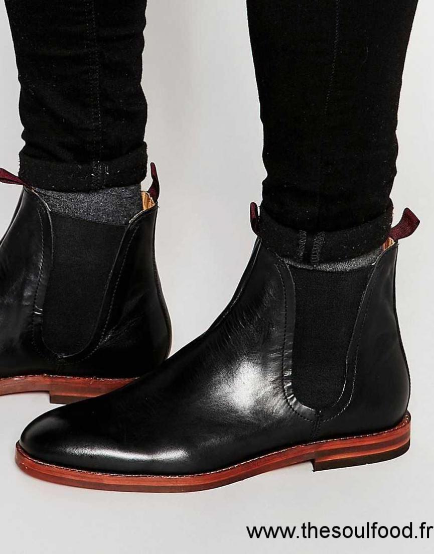 Hudson London - Tamper - Bottines Chelsea En Cuir Homme Noir Chaussures    Hudson London France 8fb170afcfa7