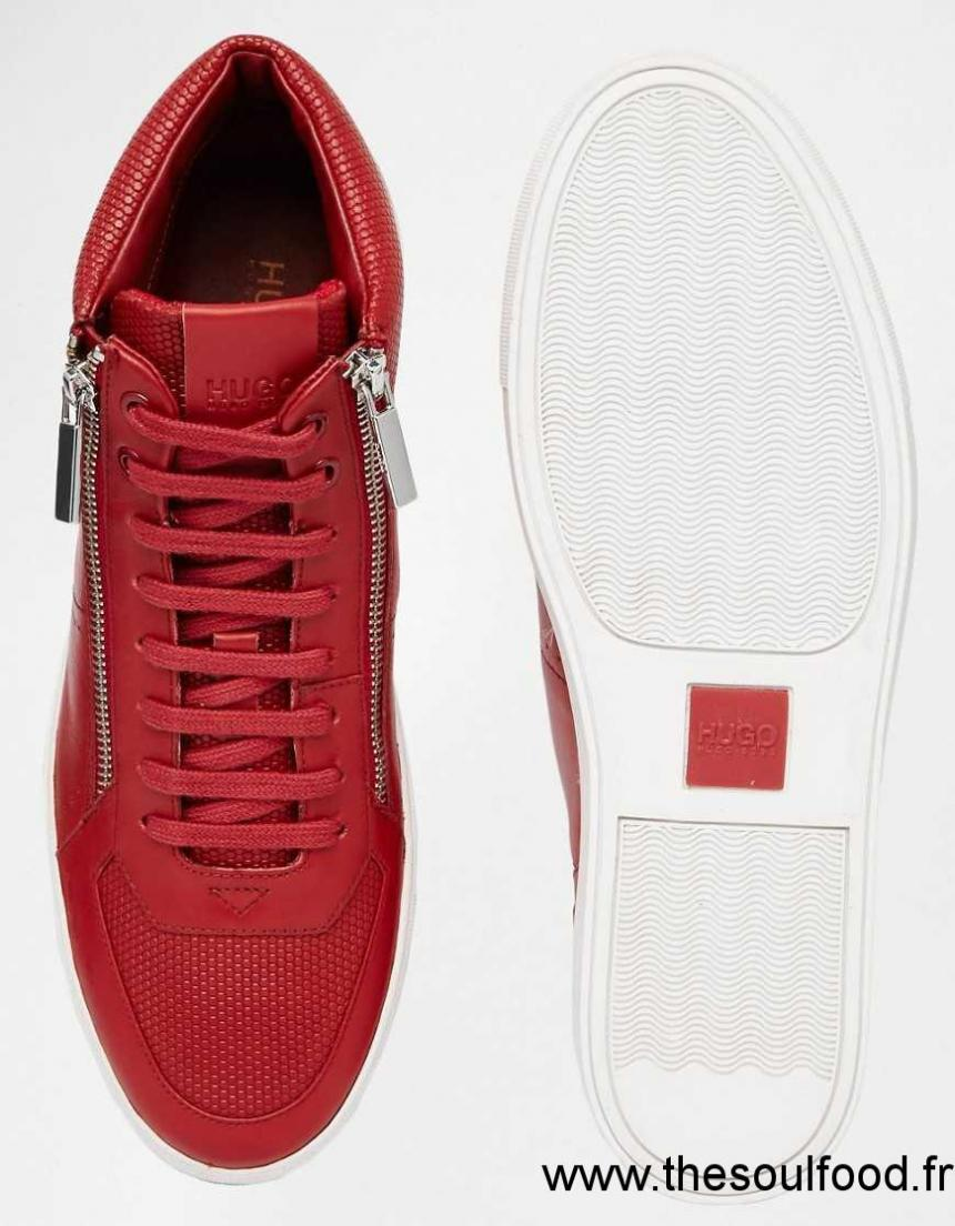 hugo by hugo boss futuzip baskets montantes homme rouge chaussures hugo boss france xi82002434. Black Bedroom Furniture Sets. Home Design Ideas