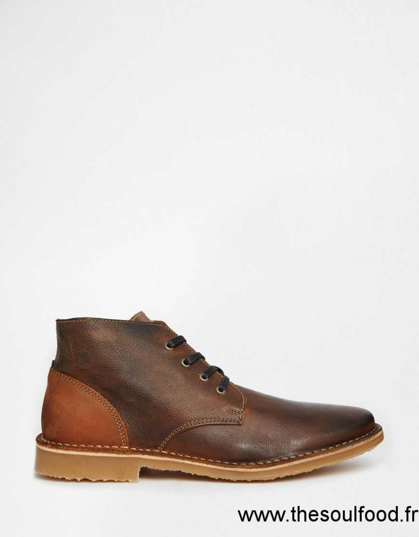 jack jones gene bottines chukka en cuir homme marron chaussures jack jones france. Black Bedroom Furniture Sets. Home Design Ideas