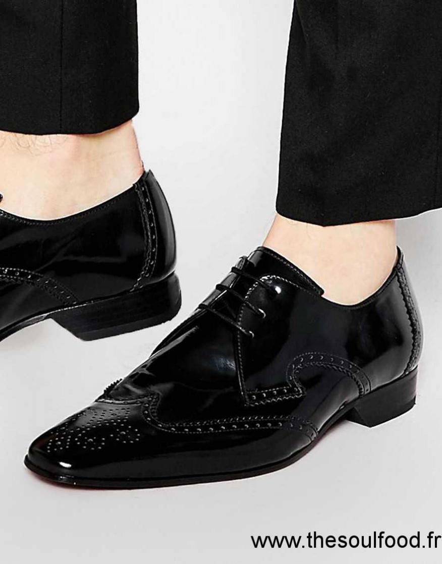 83a23721796 Jeffery West - Chaussures Richelieu Homme Noir Chaussures