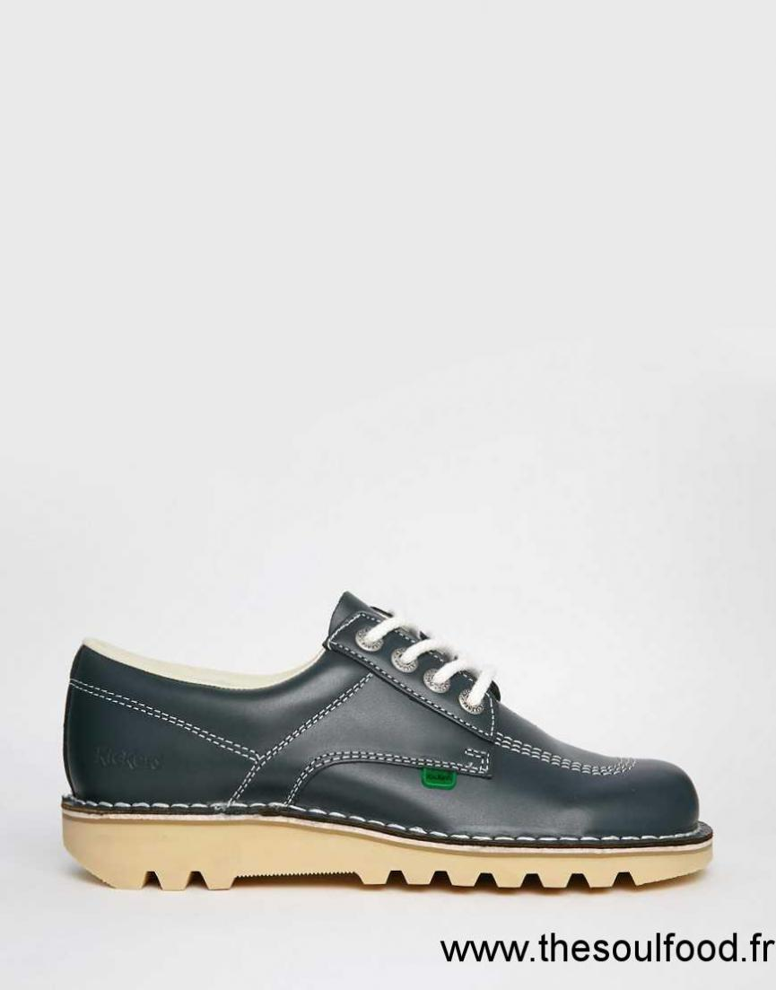 kickers kick chaussures basses homme bleu marine. Black Bedroom Furniture Sets. Home Design Ideas