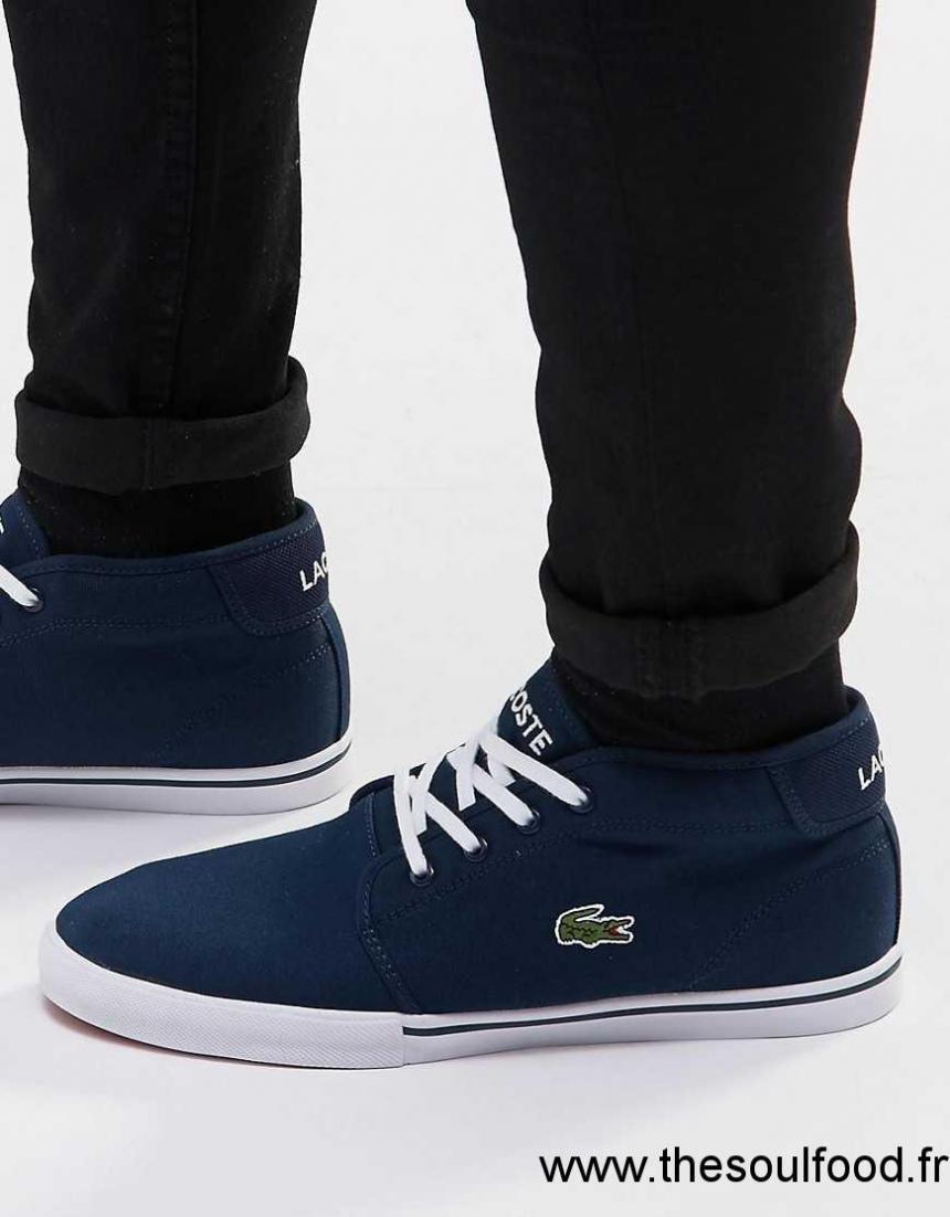 d9eb64b471 Lacoste - Ampthill - Baskets Mi-hautes Homme Bleu Chaussures | Lacoste  France KC58002722