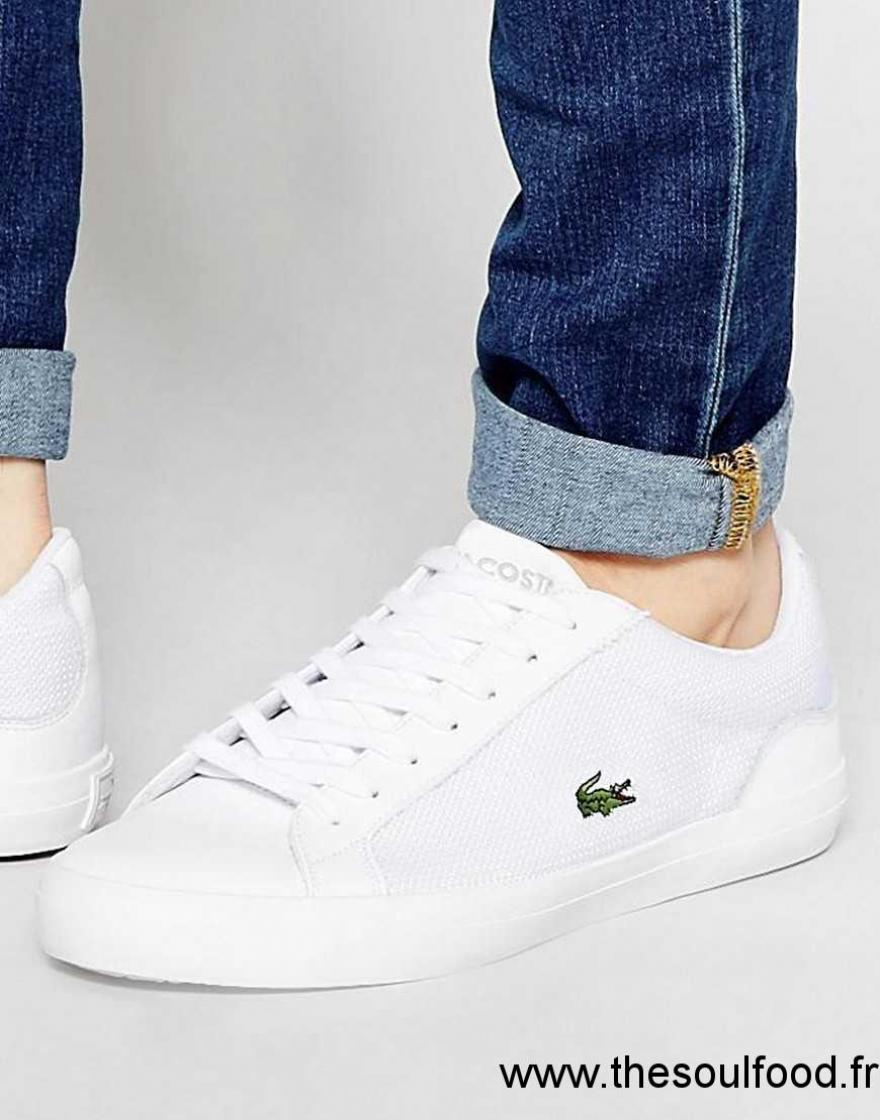 7b80422337d Lerond Lacoste Homme Baskets ChaussuresFrance Blanc hQrxdtsC