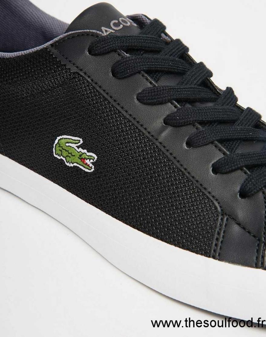 Lerond Lacoste France Chaussures Baskets Noir Homme Wnzar XqaTT