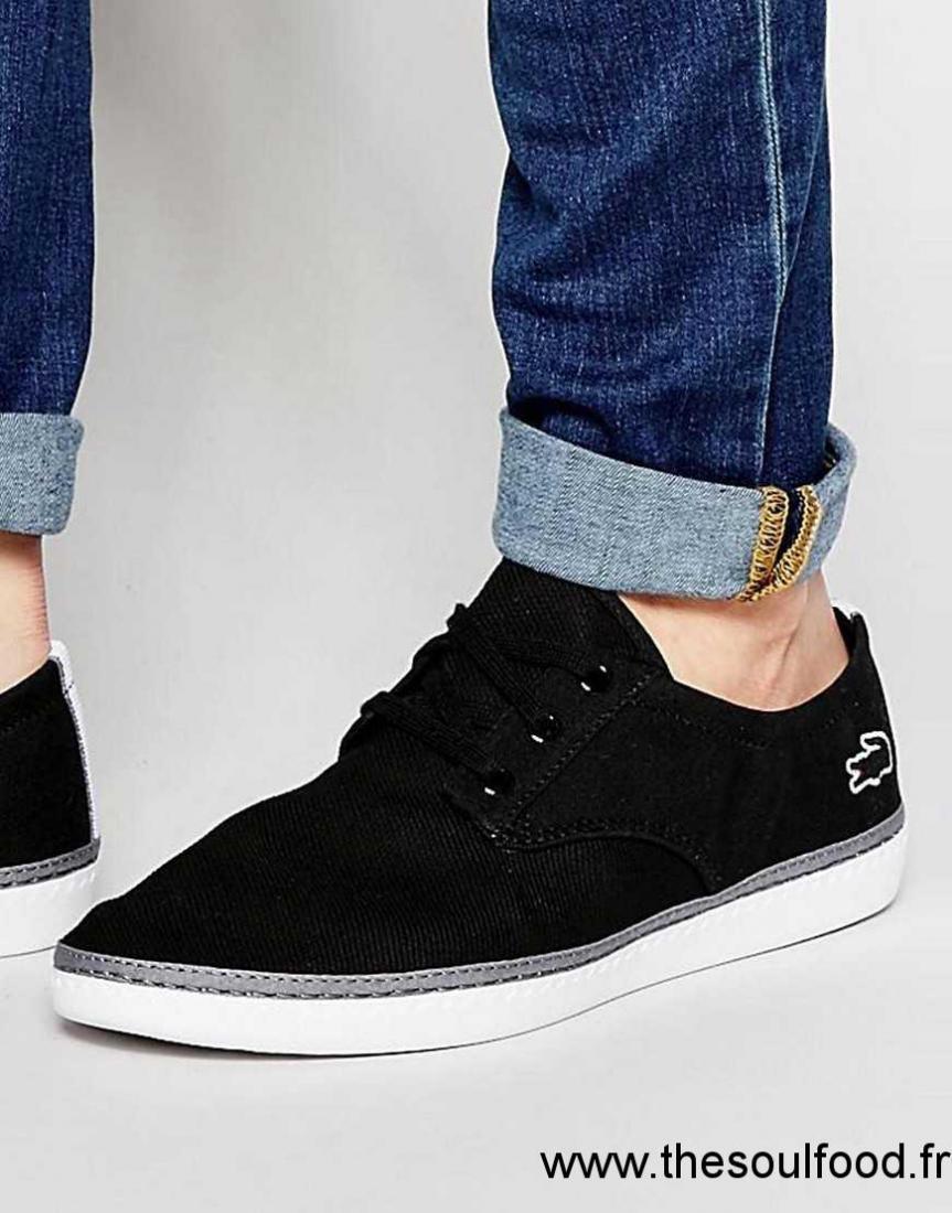 Malahini Lacées Lacoste Homme Tennis Noir Chaussures E2D9IH