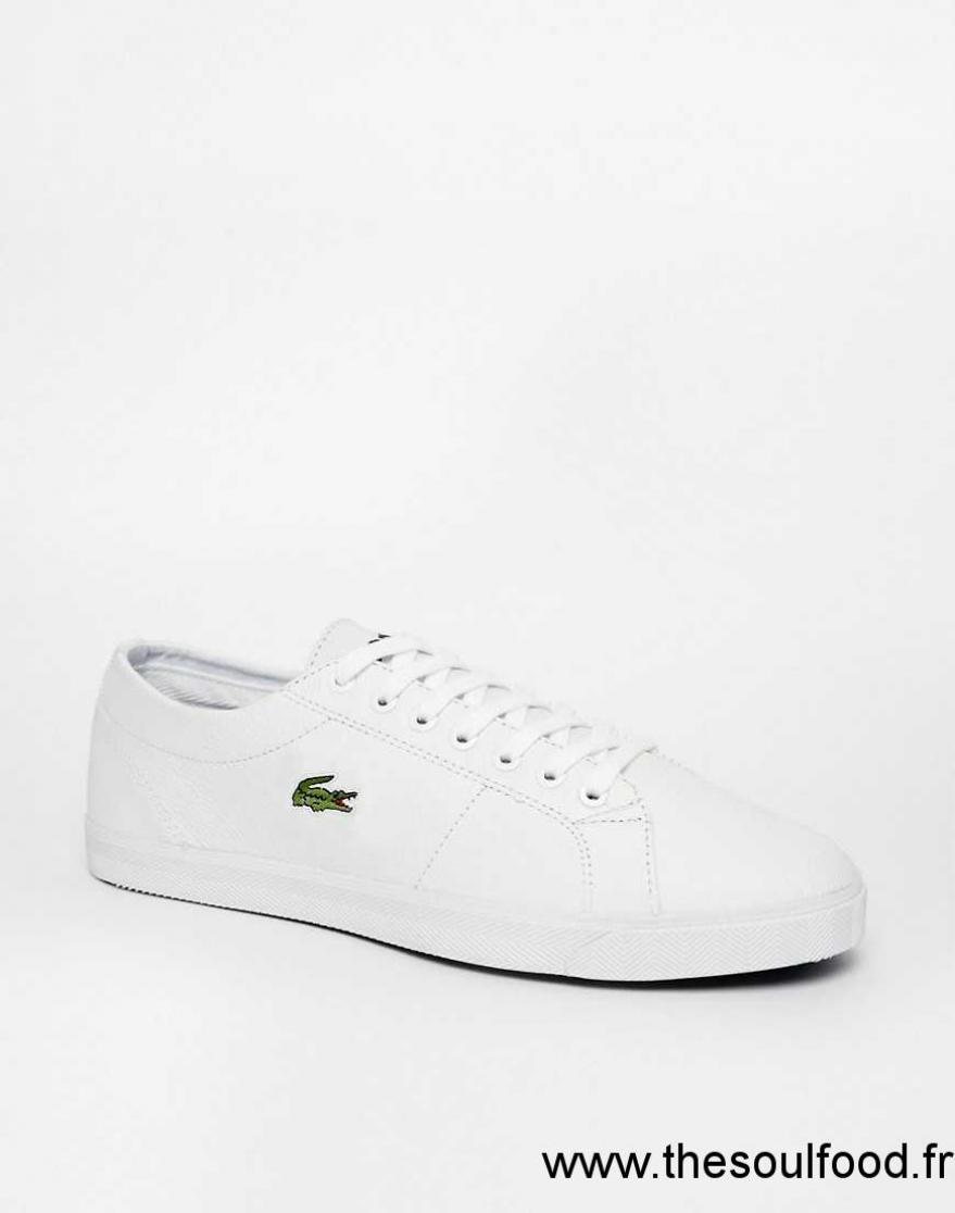 c2bf5974cf Lacoste - Marcel - Baskets En Cuir Homme Blanc Chaussures | Lacoste France  EO20002708