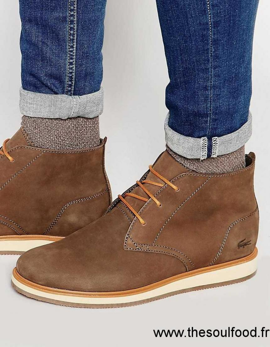 9a3f7e66ec Lacoste - Millard - Bottines Chukka Homme Marron Chaussures | Lacoste  France TQ12002709